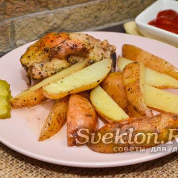 картошка по-деревенски с мясом